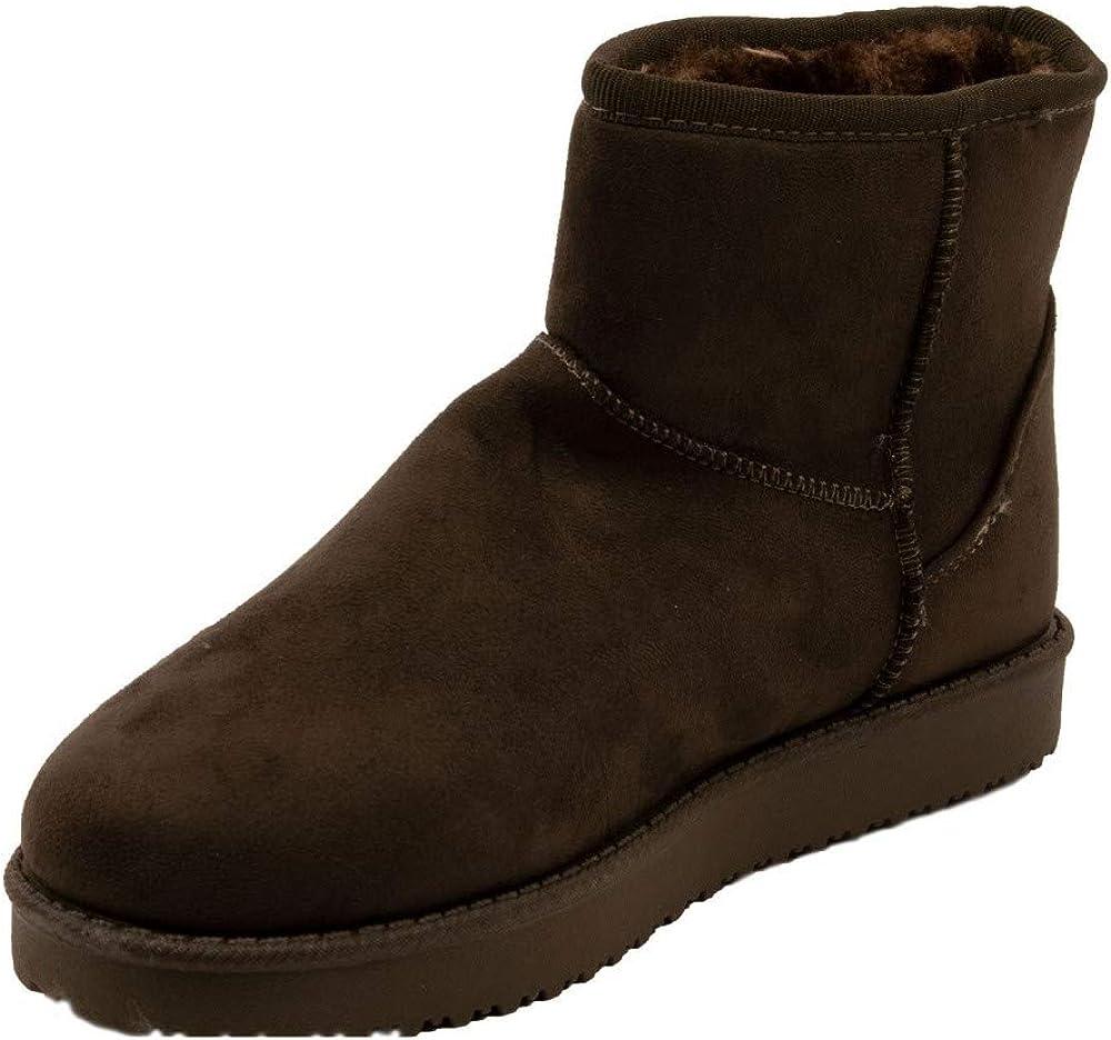 Primtex Bottes fourr/ées Femme Forme Boots Basse /à Fourrure synth/étique