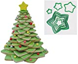 R&M International Star Tree Cookie Cutters to Make 3D Tree, 10-Piece Plastic Set
