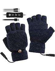 Unisex USB Verwarmde Handschoenen Verstelbare Temperatuur Winter Volledige & Half Vingers Warmer Laptop Handschoenen Wanten voor Vrouwen Mannen Meisjes Jongens
