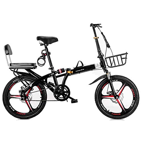 Buy Bargain TXTC Folding Bicycle,High-Carbon Steel Frame,7-Speed Womens Bike for Men and Women,Doubl...