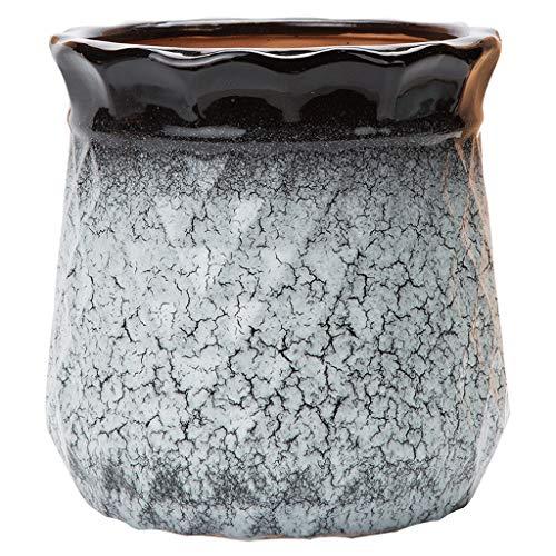 WYH persoonlijke bloempot 22,5 * 23,5/29,5 * 27 cm kaliber keramiek bloempot balkon vloerbedekking bloempot glad