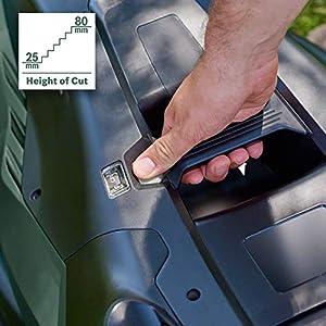 Bosch Elektro Rasenmäher AdvancedRotak 770 (1800 W, Arbeitsbreite: 46 cm, Rasenflächen bis 770 m², im Karton, Generation 5.2)