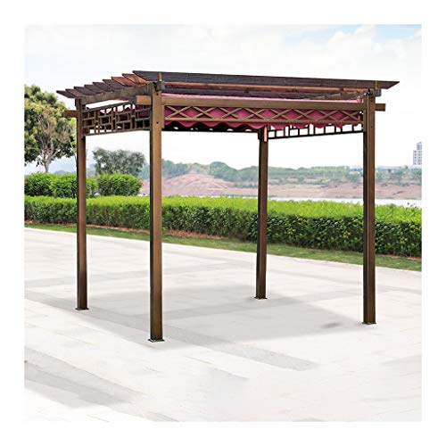 HLZY Garden Furniture Gazebo Wooden Garden Gazebo, Villa Garden Gazebo Grape Rack, Gazebos For Patios, Ideal For BBQ, Party, Beach And More Outdoor Canopy