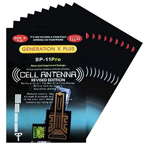 Gidenfly Etiqueta De Refuerzo De Señal De La Señal De La Antena del Teléfono Celular 10 Piezas Amplificador De Señal De Teléfono Móvil Amplificador De Antena Móvil Amplificador De Teléfono