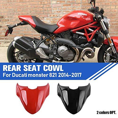 Lorababer Motorrad Rückseite Reifen Rad Hugger Kotflügel Schlamm Spritzen Fender Scheinwerfer Abdeckung für 2014-2017 Ducati Monster 821 2015 2016 (rot)