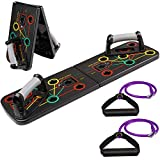 arteesol Push-Up-Board, 9-in-1-Push-Up-Rack-Board Tragbares multifunktionales Muskeltrainingssystem, Push-Up-Krafttrainingsgerät, geeignet für Heimübungen