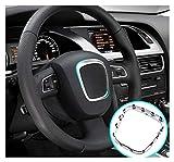 XINGFUQY Chrome Matte VIESTARIO TIENDO Ajuste para Audi A4 B6 B7 B8 A5 A6 C6 Q5 Q7 Emblema Reemplazo Etiqueta Decorativa