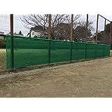 防風ネット (高さ0.9m×長さ10m) 2重補強ハトメ加工 緑色(テニスコート・グランド・フェンス) 屋外用結束バンド付き