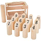 Hey! Play! Wooden Throwing Game-Complete Set,...