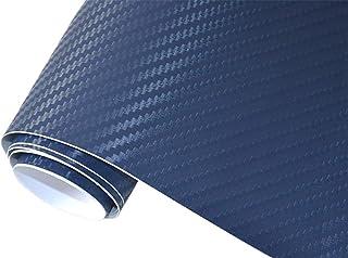 5€/m2 Auto Folie   3D Carbon Folie blau blasenfrei  50 x 150 cm selbstklebend BLASENFREI Car Wrapping Klebefolie