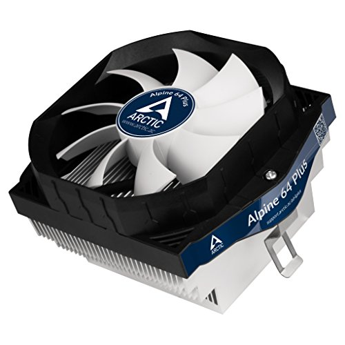 ARCTIC Alpine 64 Plus - 90 Watts Low Noise CPU Cooler for AMD AM4 Sockets with Patented Fan Holder - Patented Anti-Vibration System