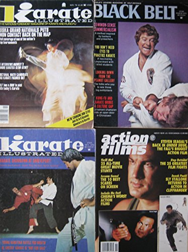Mixed Lot Of 4 Martial Arts Magazines Roy Kurban Steven Seagal Sly Stallone Covers