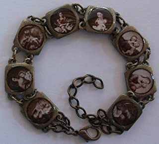 Antiqued Blessed Virgin Mary bracelet, Sepia