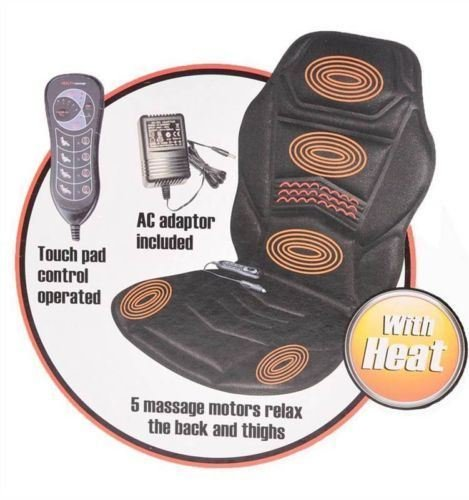 New Massage Chair Heated Back Seat Massager Cushion For Car Home Relax Van Stress