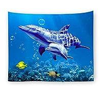 壁のタペストリー 部屋の装飾のための水中世界壁吊りマンダラタペストリー 壁布 (Color : 4, Size : L200*150)