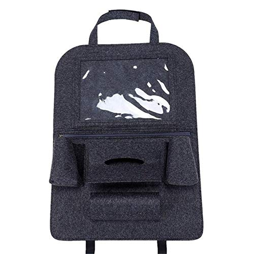WSWJJXB Car Seat Pouch Shape Tablet Holder Utility Vehicle Cup Holder Pouch Storage Bag Car Tissue Storage Bags (Color Name : 1 Piece Dark Gray)
