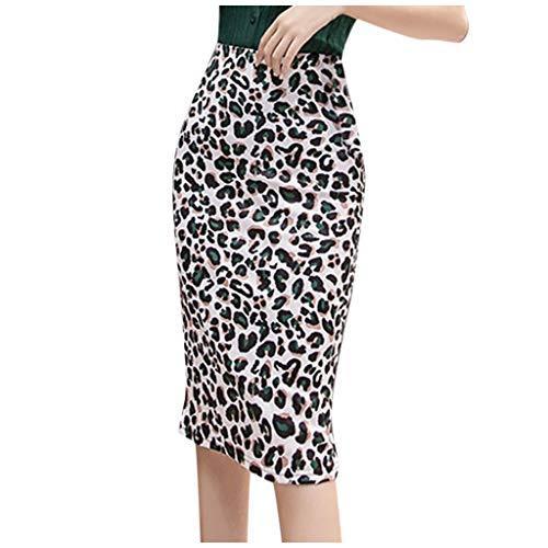 Posional Falda Sexy Retro Informal impresión Que empalma una línea de Ajuste Tenedor de Apertura de la Falda Vestidos Leopardo Moda Boda Fiesta Mini Faldas De Noche CóCtel Carnaval Faldas