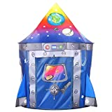Tacobear Kinderspielzelt Junge Rakete Spielzelt für Kinder Pop up Spielzelt Tragbare Faltbare...