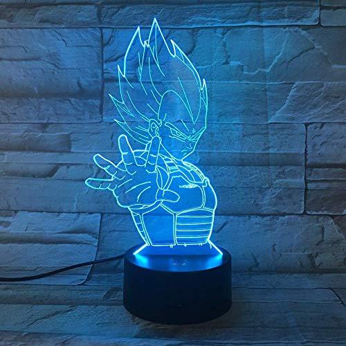 Light Dragon Ball 7 Cambio De Color 3D Colorido Luz De Noche Scopic Lámpara De Ilusión Visual Usb 3Aa Batería Lámpara Led Decoración Lámpara De Acrílico Ligera