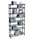 Atlantic Maxsteel 8 Tier Shelving - Heavy Gauge Steel Wire Shelving for 440 CD/228 DVD/264 BluRay/Games Media in Black - 3020
