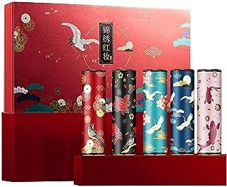 Matte Lippenstift Set 5 Kleuren Velvet Matte Moisturizing Chinese Style Lipstick Kit Bijgevoegde Chinese Stijl Gesneden Ge...
