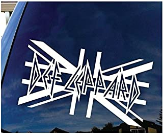 Def Leppard British Rock Band Logo sign silhouette Decal sticker white - Sticker Graphic - Auto, Wall, Laptop, Cell