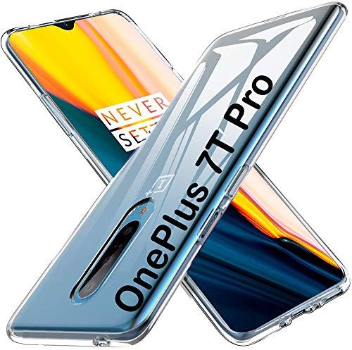 tomaxx Silikon für Oneplus 7T Pro Hülle, Soft TPU Superdünn Cover [Slim-Fit] [Anti-Scratch] [Shock Absorption] Hülle passt für Oneplus 7T Pro Smartphone