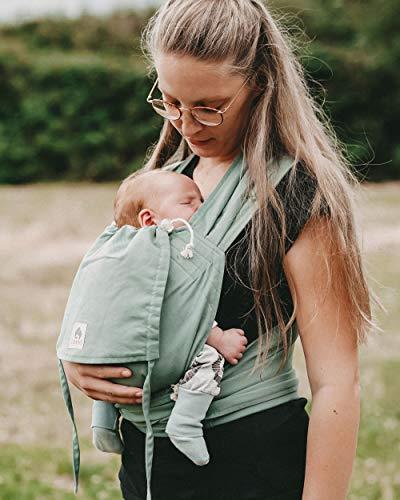 LIMAS Babytrage Halfbuckle | 50-86 cm | Bauchtrage & Rückentrage & Hüfttrage | ab Geburt bis Kleinkindalter | Baby Carrier | Jade