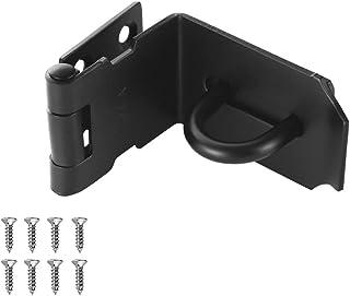 JQK Door Hasp Latch 90 Degree, Stainless Steel Safety Angle Locking Latch for Push/Sliding/Barn Door, 1.5mm Thickness Matt...