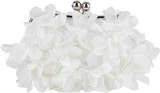 Bonjanvye Damen-Clutch-Handtasche mit Blumenmuster für Abendveranstaltungen, Hochzeit, Clutch