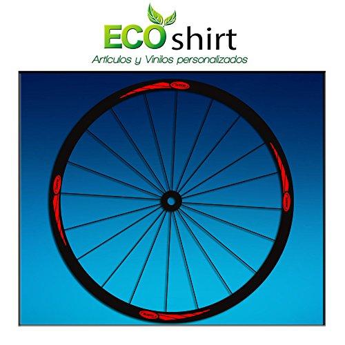 Ecoshirt 4W-Z5J7-6EK1 Pegatinas Stickers Llanta Rim Mavic 26' 27,5' 29' Am43 MTB Downhill, Rojo