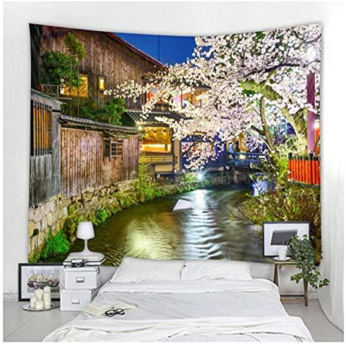 BD-Boombdl Tapiz de decoración de paisaje de flor de cerezo Mandala tapiz de decoración hippie bohemio tapiz de dormitorio 70.86'x90.55'Inch(180x230 Cm))