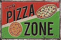Pizza Zone ティンサイン ポスター ン サイン プレート ブリキ看板 ホーム バーために