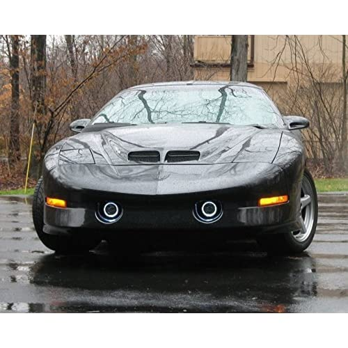 White Halo fog lamps lights Compatible With 1993-2002 Pontiac Trans Am