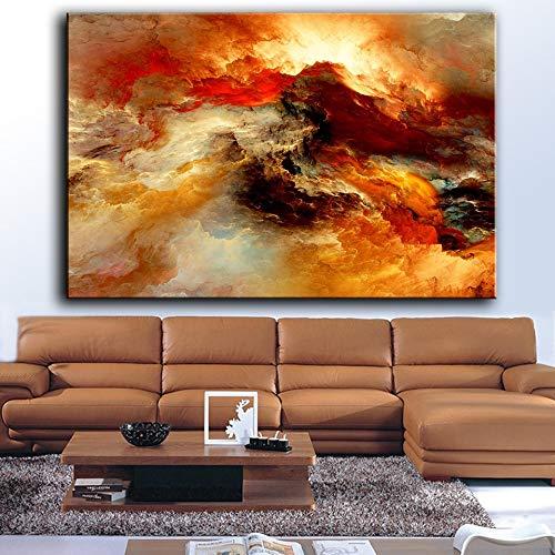 BailongXiao Unreal Cloud Abstract Pintura al óleo Mural Sala de Estar decoración del hogar Lienzo Arte,Pintura sin Marco,30x45cm