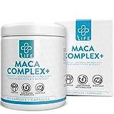 Piulife® Maca Complex+ ● 120 Cápsulas ● 4500 Mg de Raíz de Maca en Dosis como 400 Mg de Concentrado ● con Zinc, L-Arginina y Vitaminas B6 y B12 ● Aumenta la Energía, la Concentración, la Testosterona
