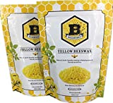 Beesworks Beeswax Pellets, Yellow, 1lb-Cosmetic Grade-Triple Filtered Beeswax (2)