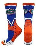 TCK Florida Gators Victory Crew Socks (Royal/Orange/White, Medium)