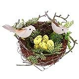 POPETPOP - Nido para Nido de Musgo Artificial, Espuma de pájaros, Nido de Huevos, decoración de Plumas, pájaros, artesanía, Bricolaje para la casa, decoración de Bodas, Accesorios de Fiesta