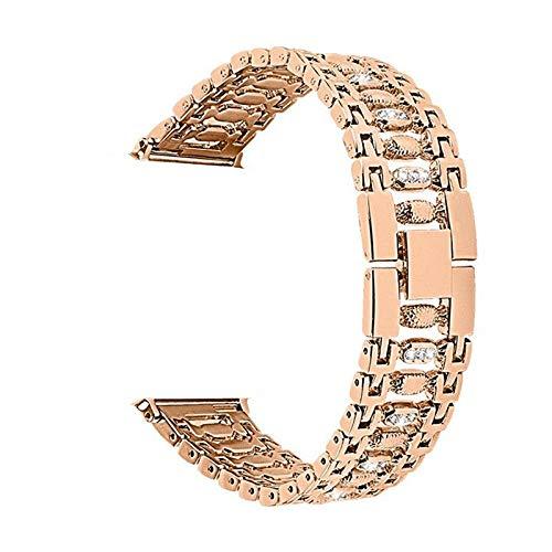 HCKZ La Moda Compatible con 44mm Pulseras de Reloj de Manzana 38 mm 40 mm 42 mm, Correa de reemplazo de Diamante Compatible for iWatch Serie 5/4/3/2/1 Elegante (Color : Rose Gold, Size : 40mm(38mm))
