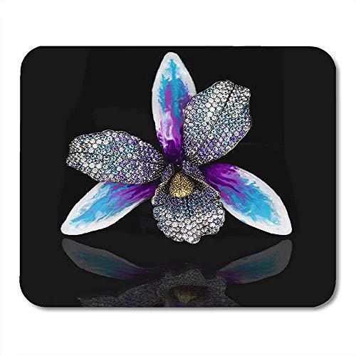 25X30CM Collier Diamants Noirs Bijoux Idéal pour Les Aimés Améthystes Or Blanc Tapis de Souris