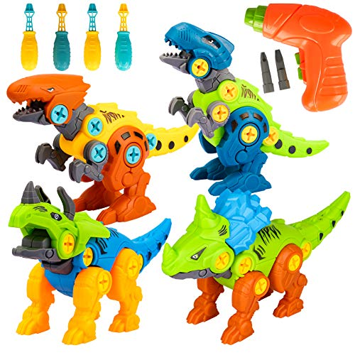 Dinosaur Toys for Kids Gift for 3 4 5 6 7 Year Old Boys,Building Construction Toys Educational STEM Dinosaur Toy for 3-8 Year Old Boy Girls Birthday Gifts for 5-9 Toddler Learning Building Blocks Toy