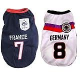 Camiseta para perro de la selección nacional de fútbol americano, para perros y gatos disponibles