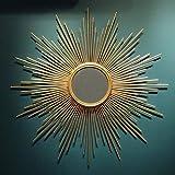 Miroir- Mir Miroir mural en métal , Cadre 50cm / 60cm / 70cm / 80cm Mir Miroir décoratif rond...