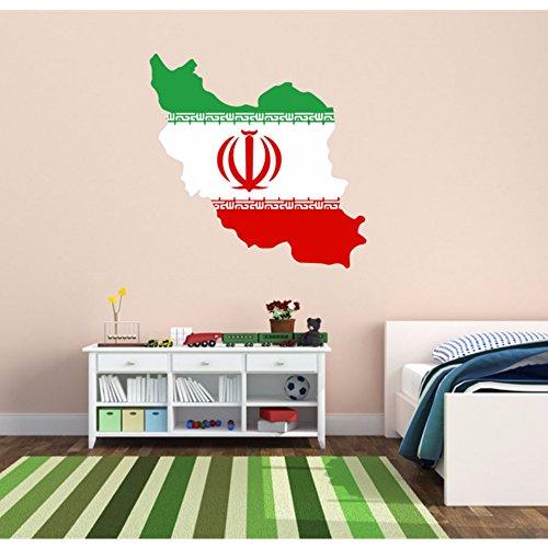 DIYthinker Iraanse vlag kaart van Iran muur Vinyl Sticker Aangepaste Home Decoratie Muursticker Bruiloft Decoratie Pvc Wallpaper Mode Ontwerp