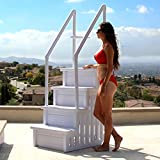 Best Above Ground Pool Ladders - XtremepowerUS Premium Pool Ladder (4)-Step Above Ground Swimming Review