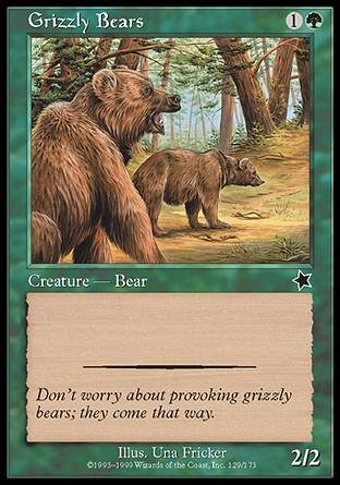 Magic The Gathering - Grizzly Bears - Starter 1999