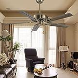 Ventilador de techo industrial, comedor, casa dormitorio retro, pequeña sala de estar, Ventilador de techo FARO Ventilador de lámina de hierro, sin lámpara, lámpara ventilador,hoja de hierro