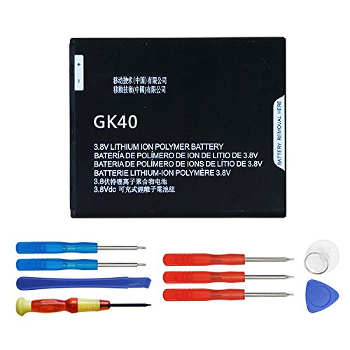 SWARK GK40 Replacement Battery Compatible with Motorola Moto G4 Play XT1607 XT1609 SNN5976A Moto E4 XT1767 XT1768 with Opening Repair Tool Kit