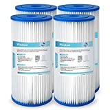 Membrane Solutions 50 Micron Big Blue Pleated Water Filter Home 10'x4.5' Whole House Heavy Duty Sediment Replacement Cartridge Compatible with ECP10-1,ECP20-BB,R50-BBSA,FXHSC,CB1-SED10-BB - 4 Pack